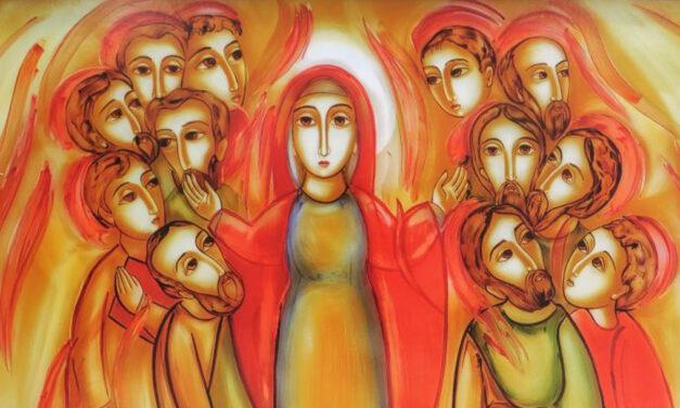 Maria ensina-me a receber o Espírito que me dá Jesus.